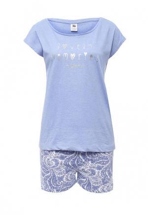 Пижама Sela. Цвет: синий