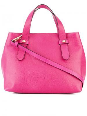 Маленькая сумка-тоут Borbonese. Цвет: розовый и фиолетовый