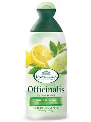 Гель для душа  ЭНЕРГЕТИЧЕСКИЙ с экстрактами лайма и зеленого чая 250 мл L'Angelica. Цвет: белый