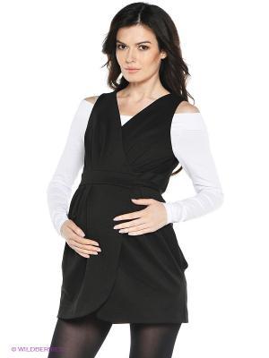 Сарафан для беременных 40 недель. Цвет: черный