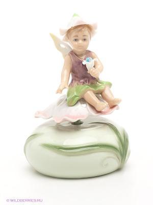 Музыкальная фигурка Цветочная фея Pavone. Цвет: зеленый, фиолетовый, розовый