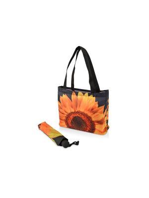 Зонт и сумка Подсолнух Дерево Счастья. Цвет: черный, желтый