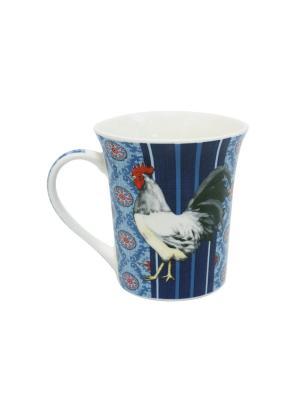 Кружка Великолепные петухи-2 350 мл п/уп (асс) Elff Ceramics. Цвет: синий, голубой, красный, белый