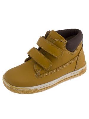 Кроссовки CHICCO. Цвет: желтый, коричневый