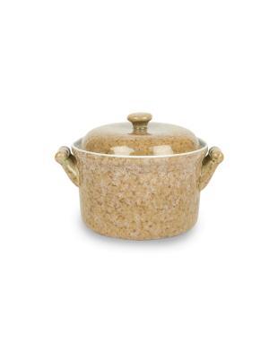Кастрюля из жаростойкой керамики (духовка/микроволновка) 0,7 л Peterhof. Цвет: бежевый