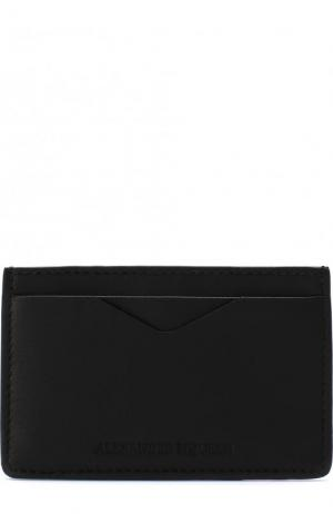 Кожаный футляр для кредитных карт Alexander McQueen. Цвет: черный