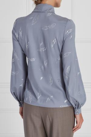 Блузка с бантом A LA RUSSE. Цвет: серый