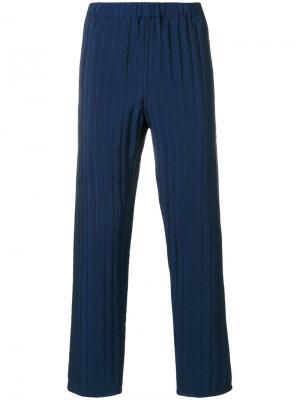 Стеганые брюки Umit Benan. Цвет: синий