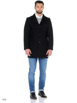 Пальто мужское зимнее Пряник. Цвет: черный
