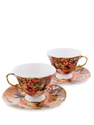 Чайный н-р на 2 перс. Дольче Вита (Pavone) Pavone. Цвет: белый, коричневый