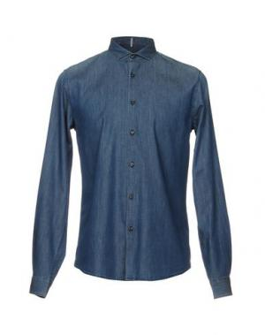 Джинсовая рубашка INDIVIDUAL. Цвет: синий