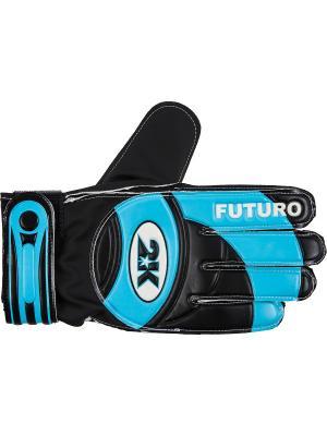 Перчатки вратарские Futuro 2K. Цвет: черный, голубой