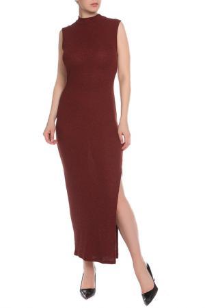 Прилегающее платье без рукавов La Reine Blanche. Цвет: bordo