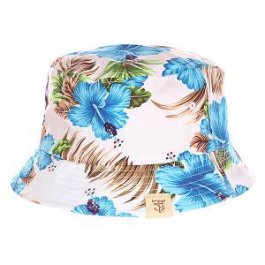 Панама  Paradise Bucket Hat Blue TrueSpin. Цвет: белый,голубой