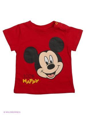 Футболка Mickey Mouse. Цвет: красный