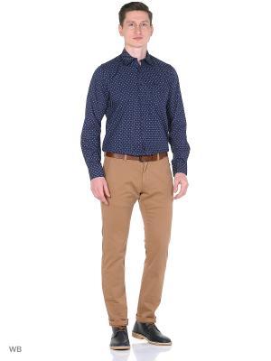 Рубашка Boston Brothers. Цвет: темно-синий, белый