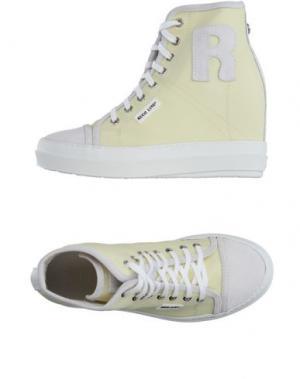 Высокие кеды и кроссовки RUCO LINE. Цвет: светло-желтый