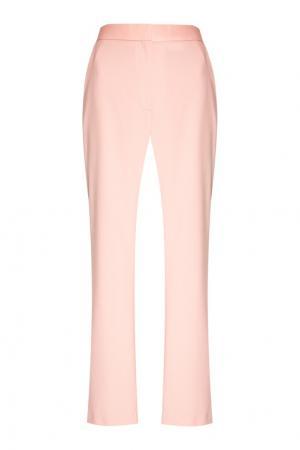 Шерстяные брюки пудрового цвета Altuzarra. Цвет: розовый