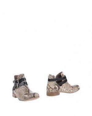Полусапоги и высокие ботинки MANILA GRACE. Цвет: бежевый