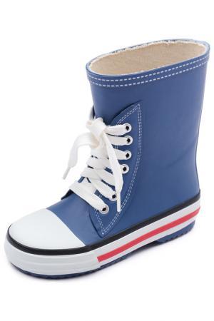 Сапоги PlayToday. Цвет: темно-синий, белый, голубой