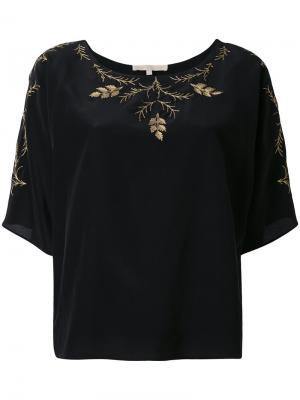 Блузка с цветочной вышивкой Vanessa Bruno. Цвет: чёрный