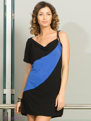 Платье Top Secret. Цвет: черный, синий