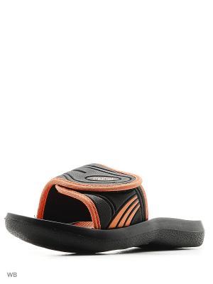 Шлепанцы Mursu. Цвет: черный, оранжевый