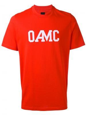 Футболка с принтом логотипа Oamc. Цвет: красный