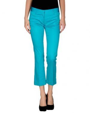 Повседневные брюки FABRIZIO LENZI. Цвет: бирюзовый