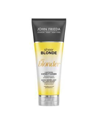 Кондиционер осветляющий для натуральных, мелированных и окраш волос Sheer Blonde Go Blonder, 250 мл John Frieda. Цвет: белый