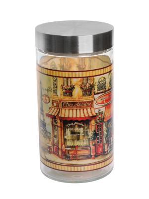 Банка Старый Париж 1700мл Elff Ceramics. Цвет: серебристый, оранжевый