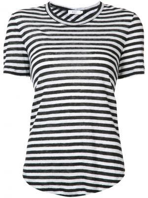 Полосатая футболка с перекрещенным дизайном A.L.C.. Цвет: чёрный