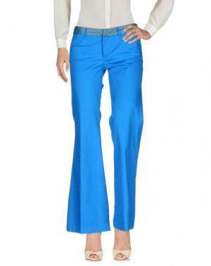 Повседневные брюки SO NICE. Цвет: лазурный