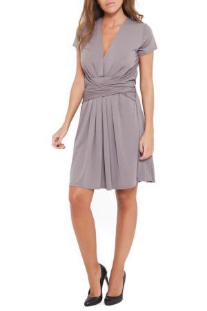 Платье SHES SECRET SHE'S. Цвет: серый