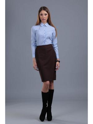 Блузка ЭНСО. Цвет: голубой