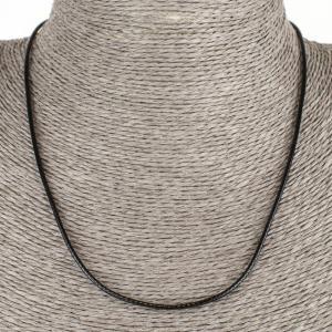 Шнурок для кулона из кожи арт. ШН-014 Бусики-Колечки. Цвет: черный