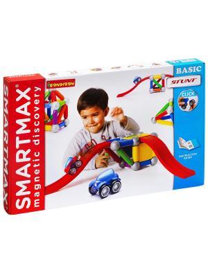 Магнитный конструктор SmartMax/ Bondibon Основной (Basic Stunt) набор, арт.502. Цвет: белый, голубой, красный