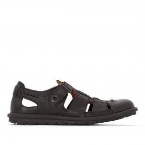 Босоножки кожаные Vidal KICKERS. Цвет: черный