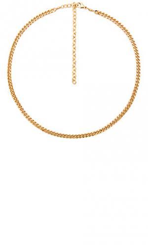Flat chain choker Jacquie Aiche. Цвет: металлический золотой