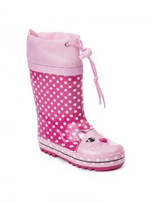 Резиновые сапоги PlayToday. Цвет: розовый