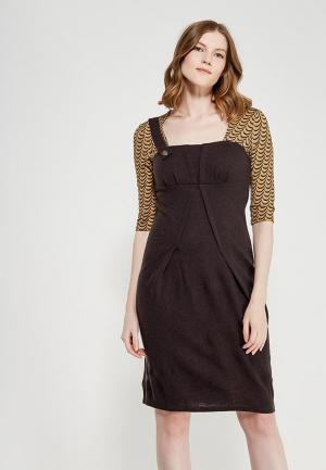 Платье Ано. Цвет: коричневый