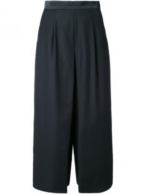 Укороченные брюки-палаццо Guild Prime. Цвет: чёрный