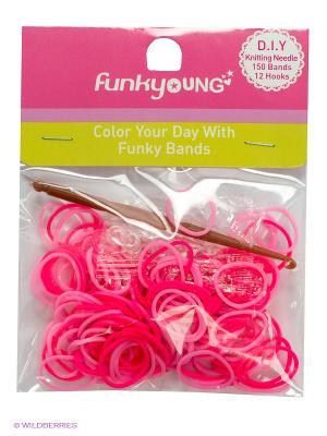 Резиночки для плетения браслетов Funky Fish. Цвет: розовый