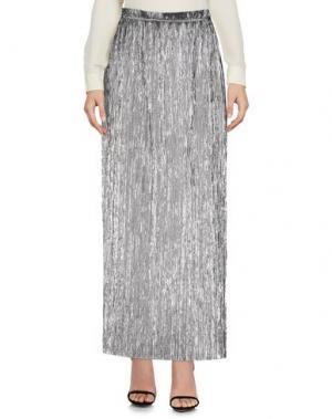 Длинная юбка PAOLO CASALINI. Цвет: серебристый