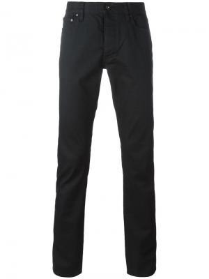 Обтягивающие брюки John Varvatos. Цвет: чёрный
