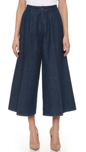 Очень широкие джинсы Victoria Beckham. Цвет: настоящий индиго