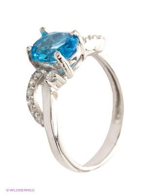 Кольцо Silver Wings. Цвет: голубой, серебристый