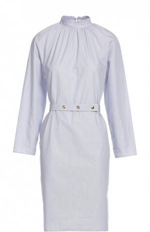 Платье с поясом Atlantique Ascoli. Цвет: синий