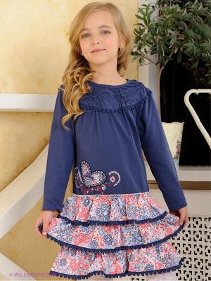 Платье Pampolina. Цвет: синий