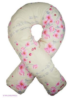 Подушка для беременных Здоровье и комфорт. Цвет: бежевый, розовый, серый
